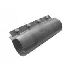 Obejma kwasoodporna na rurę paszową fi 70 mm z 4 śrubami