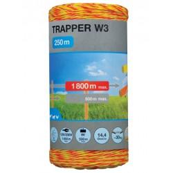 Plecionka TRAPER W3 1,8mm/250m żółto-pomarańczowa
