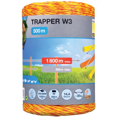 Plecionka TRAPER W3 1,8mm/500m żółto-pomarańczowa