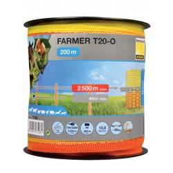 Taśma FARMER T20-O 20mm/200m żółto-pomarańczowa