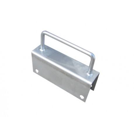 Uchwyt drzwiowy pogłebiony kwasoodporny do deski PCV 35mm
