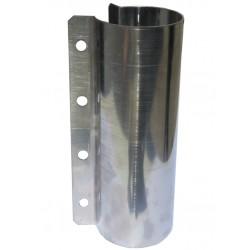 Obejma ze stali nierdzewnej na rurę paszową fi 60 mm